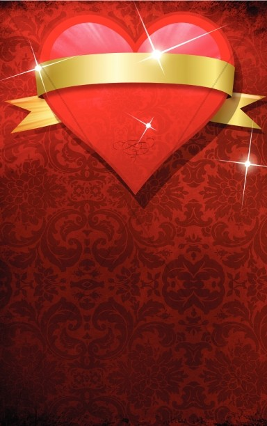 Valentine Heart Church Bulletin Template