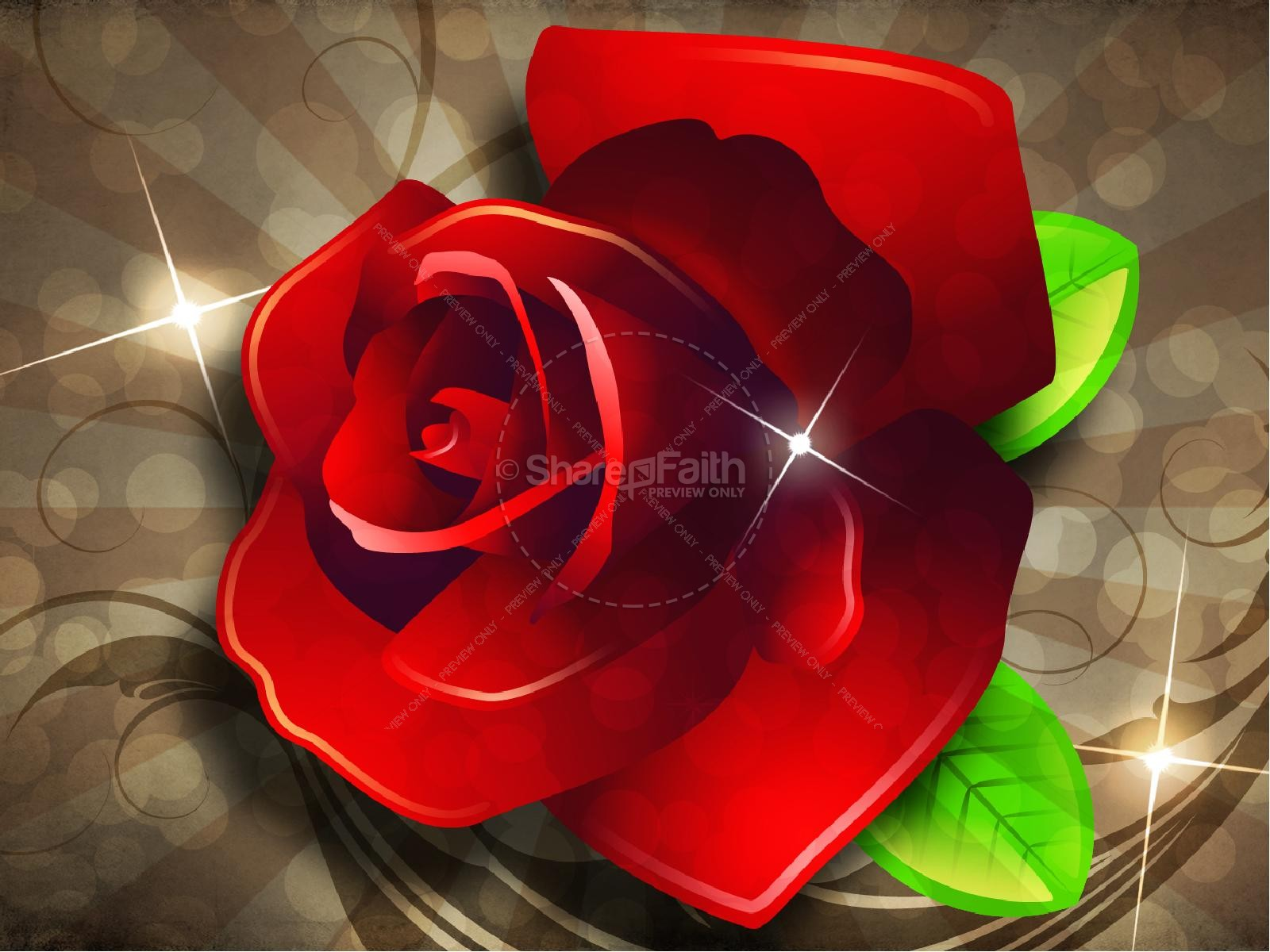 Valentine Rose PowerPoint Sermon Template