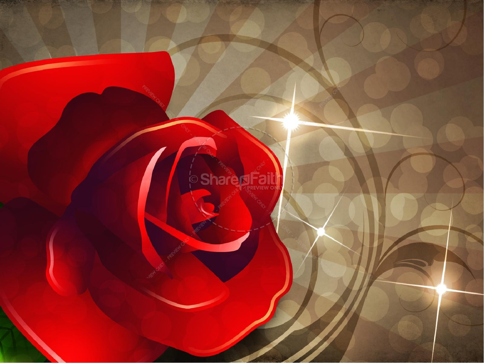 Valentine Rose PowerPoint Sermon Template | slide 8