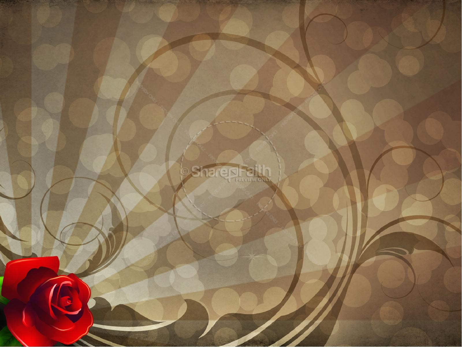 Valentine Rose PowerPoint Sermon Template | slide 9