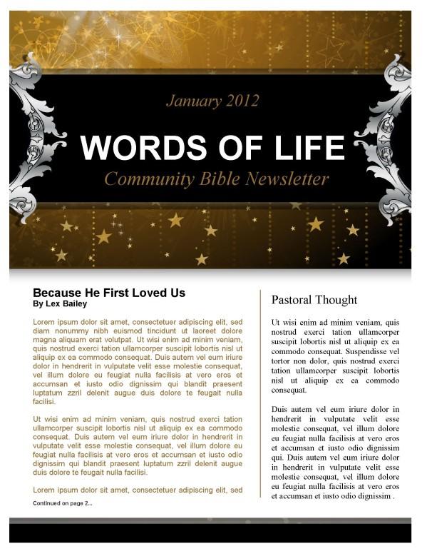 Stars Church Newsletter