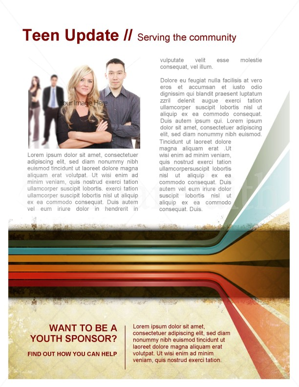 Color Lines Newsletter Template