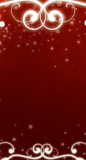 Red Swirls Banner Widget