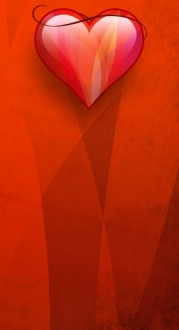 Small Red Heart Banner Widget