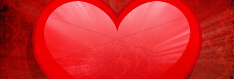 Valentine Heart Website Banner