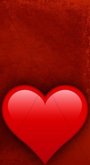 Big Red Heart Banner Widget