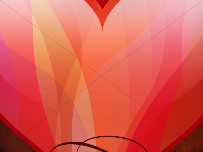 Heart Shape Worship Background
