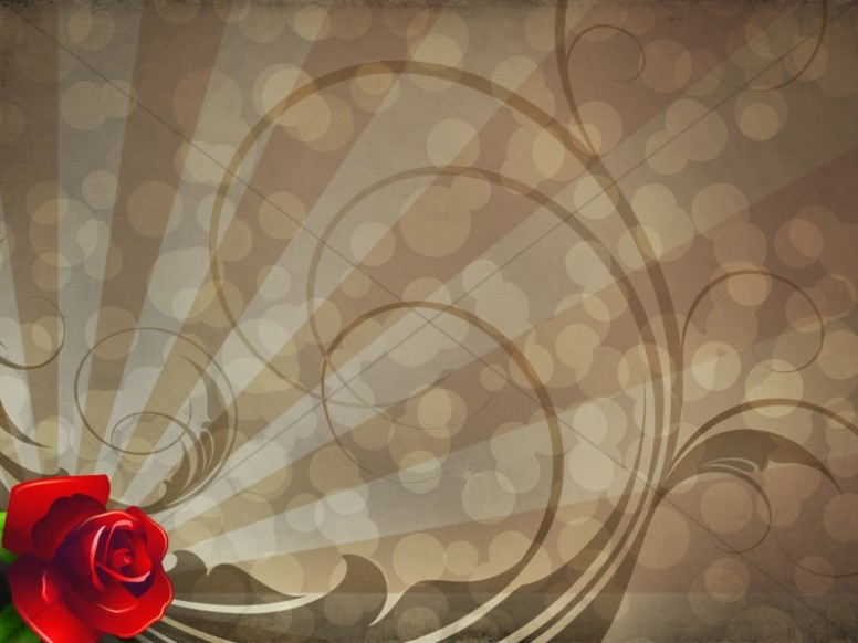 Rose Worship Background Template