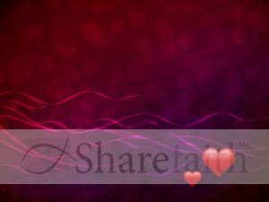 Valentine Day Worship Background Template