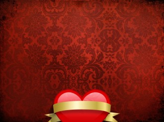 Heart and Banner Worship Background