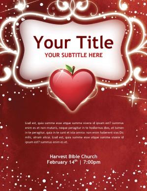 Valentine Flyer Template Template | Flyer Templates