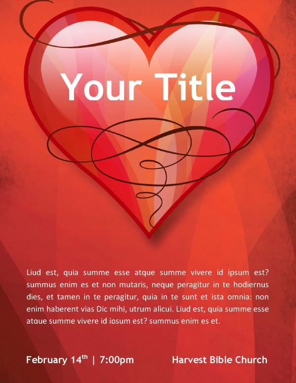 Love Church Flyer Template