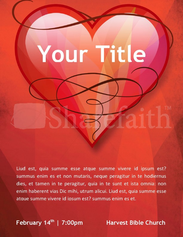 Love Church Flyer Template