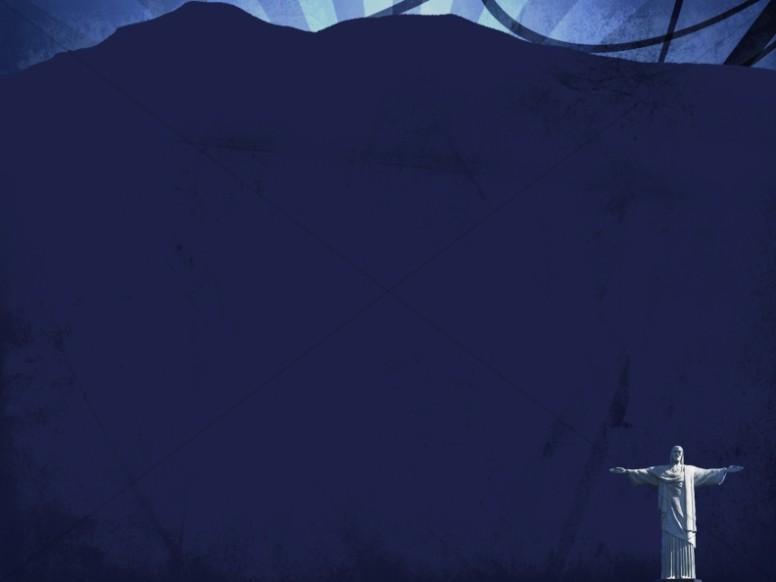 Dark Blue Worship Background Template
