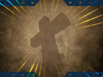 Cross and Rays Worship Background