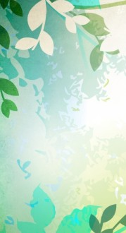 Spring Leaves Banner Widget