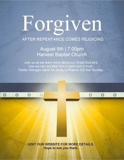 Forgiven Flyer