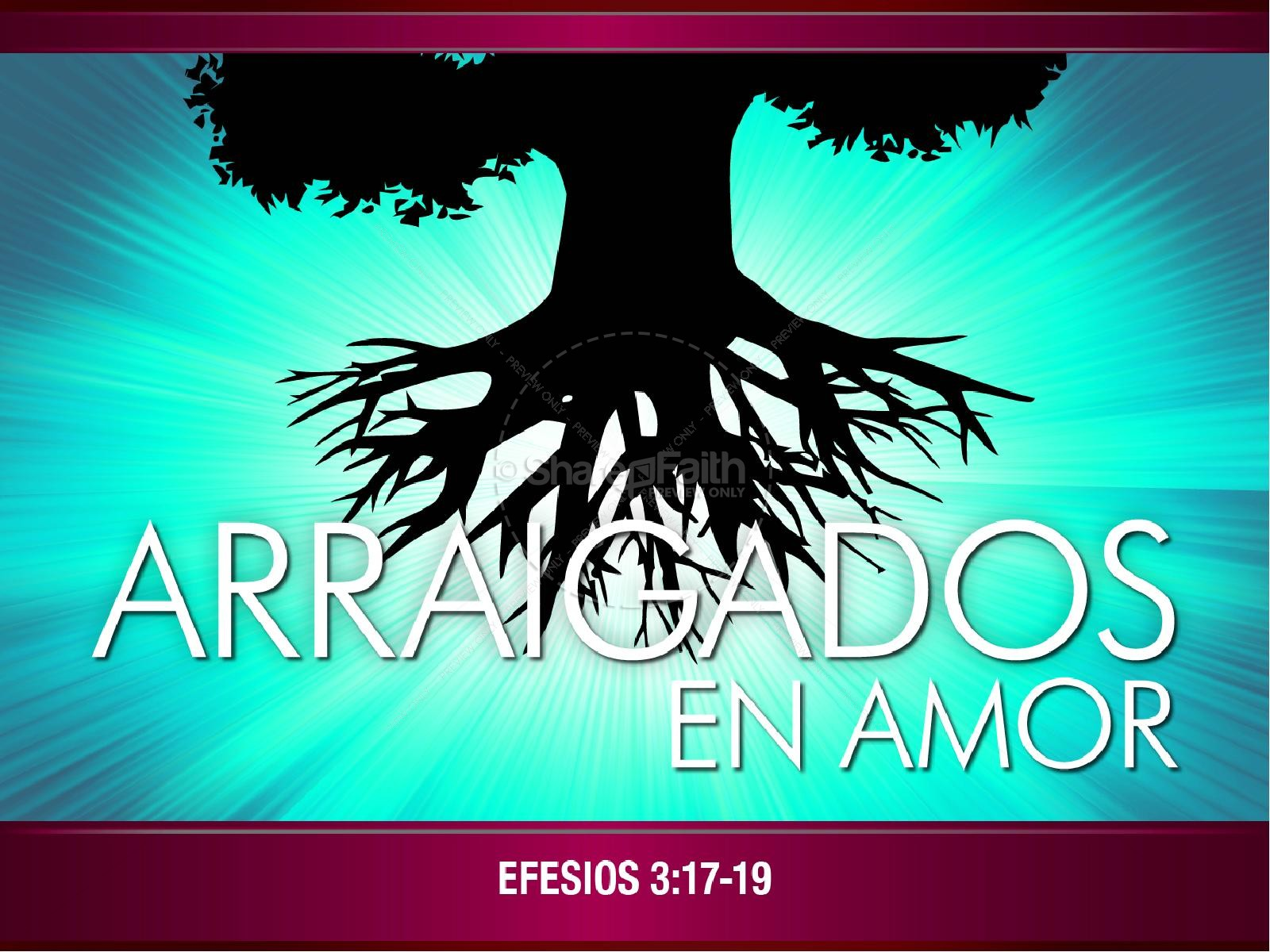 Arraigados en Amor PowerPoint | slide 1