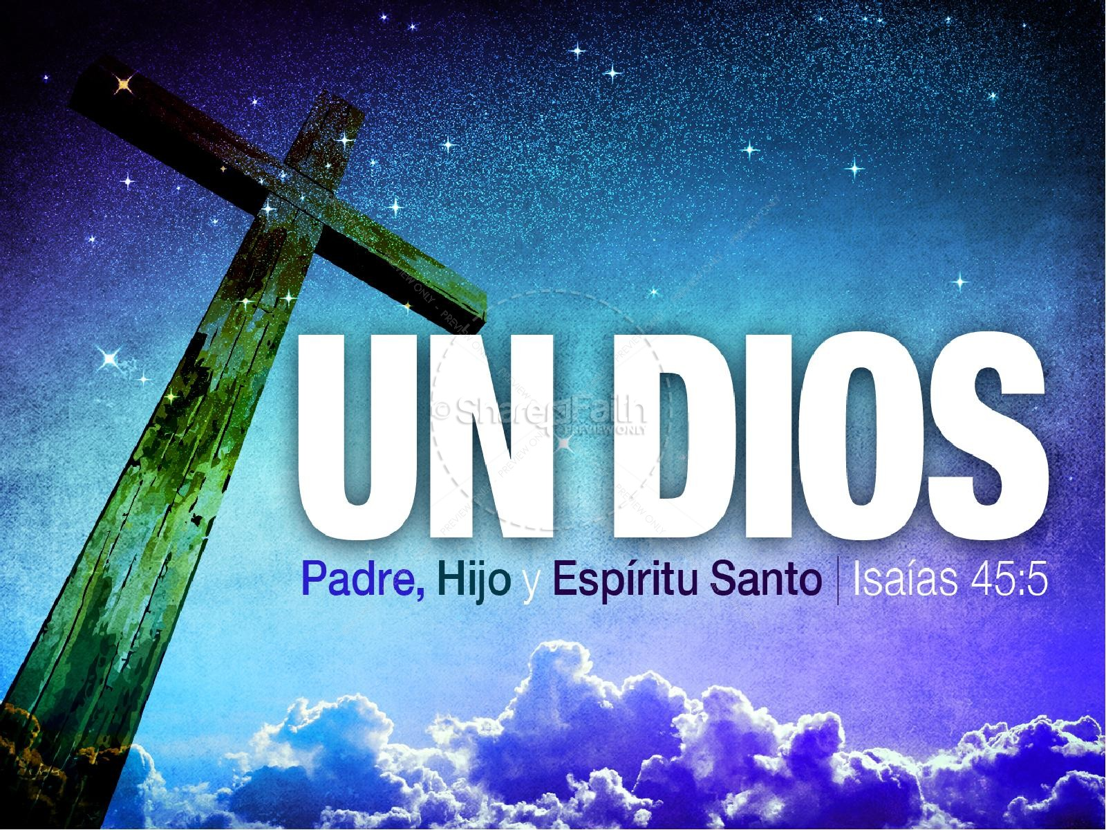 Un Dios PowerPoint Sermon | slide 1