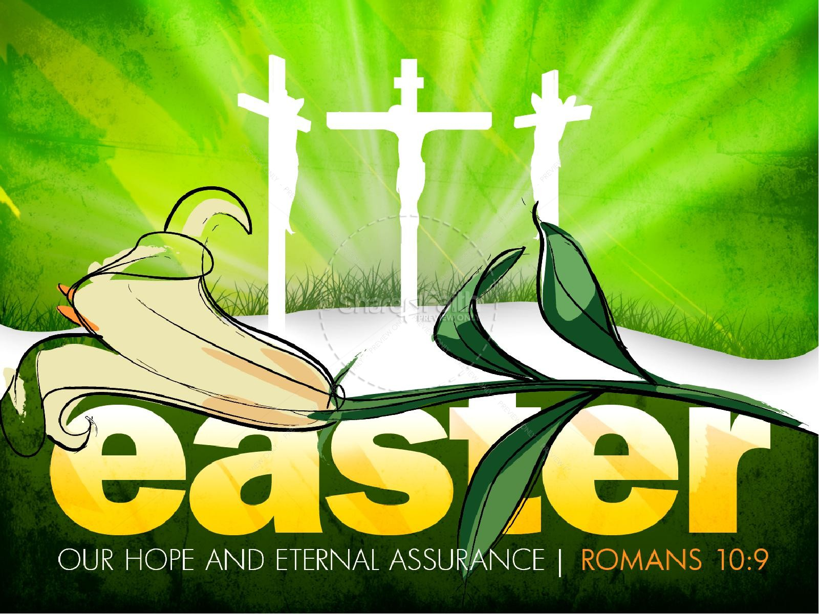 Easter Crosses PowerPoint | slide 1