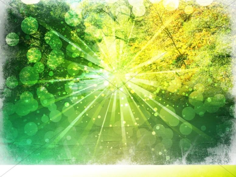 spring sun worship background