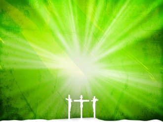 Green Worship Background Template