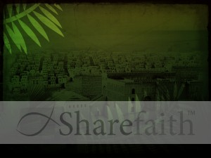 Jerusalem Palm Sunday Worship Background
