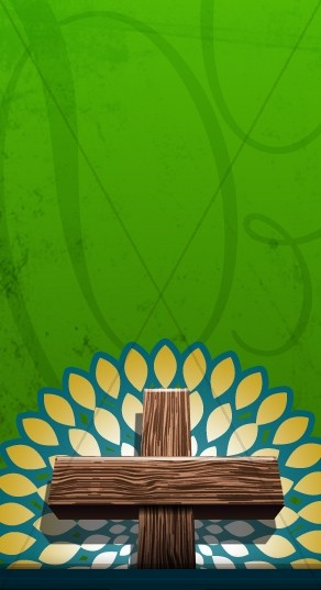 Cross and Green Backdrop Website Sidebar