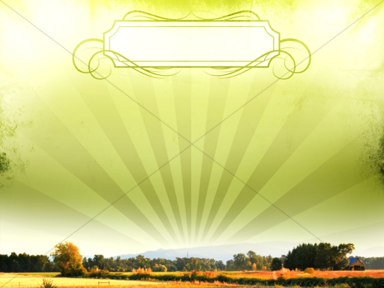 Field Worship Background Template