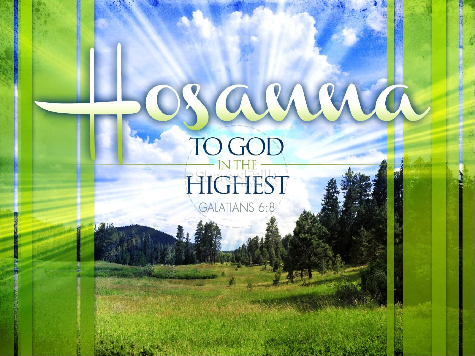 Hosanna PowerPoint Sermon Template