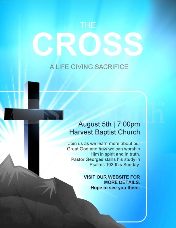 cross flyer template