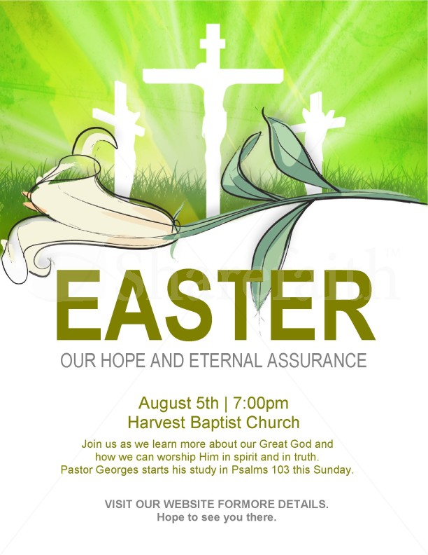 Easter Flyer Template Template – Easter Flyer Template