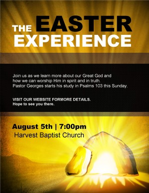 Easter Experience Flyer