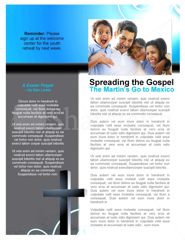 Church Cross Newsletter Template