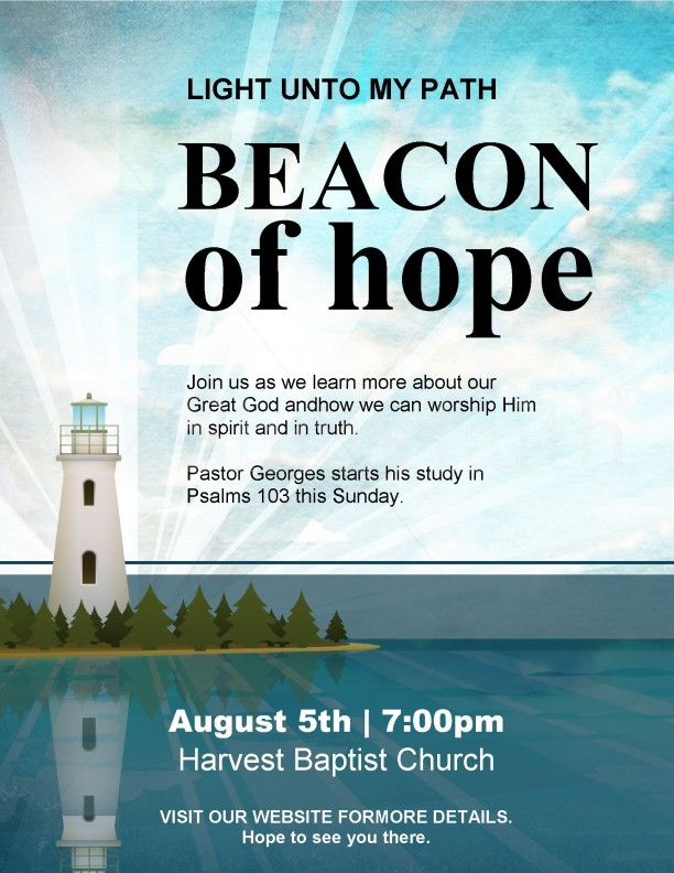 Lighthouse Church Flyer Template | page 1