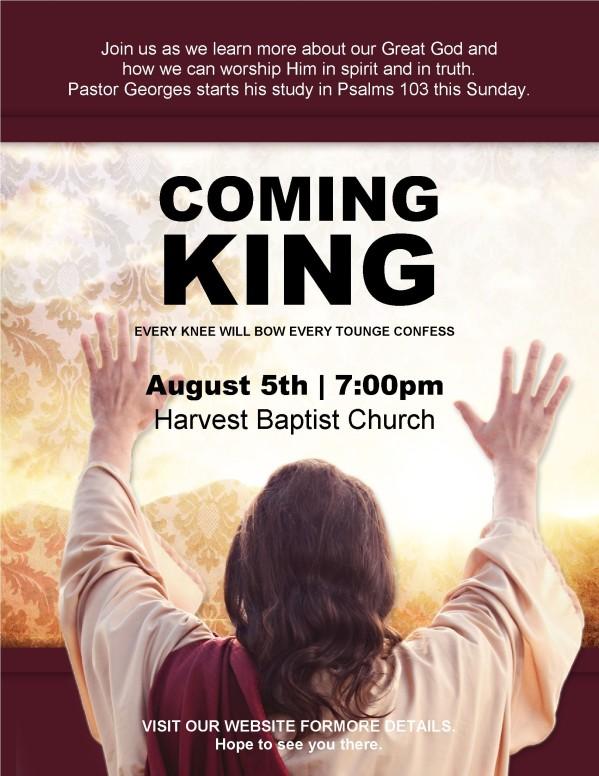 King Jesus Flyer