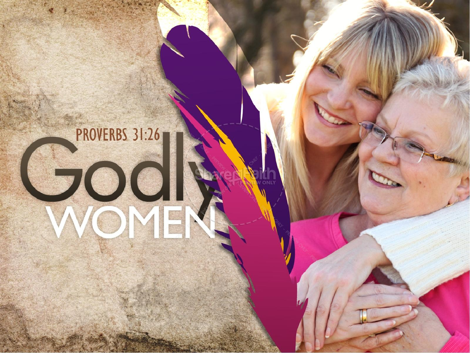 Godly Women PowerPoint Template