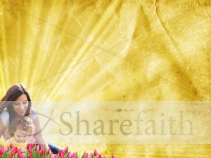 Mom and Child Worship Background