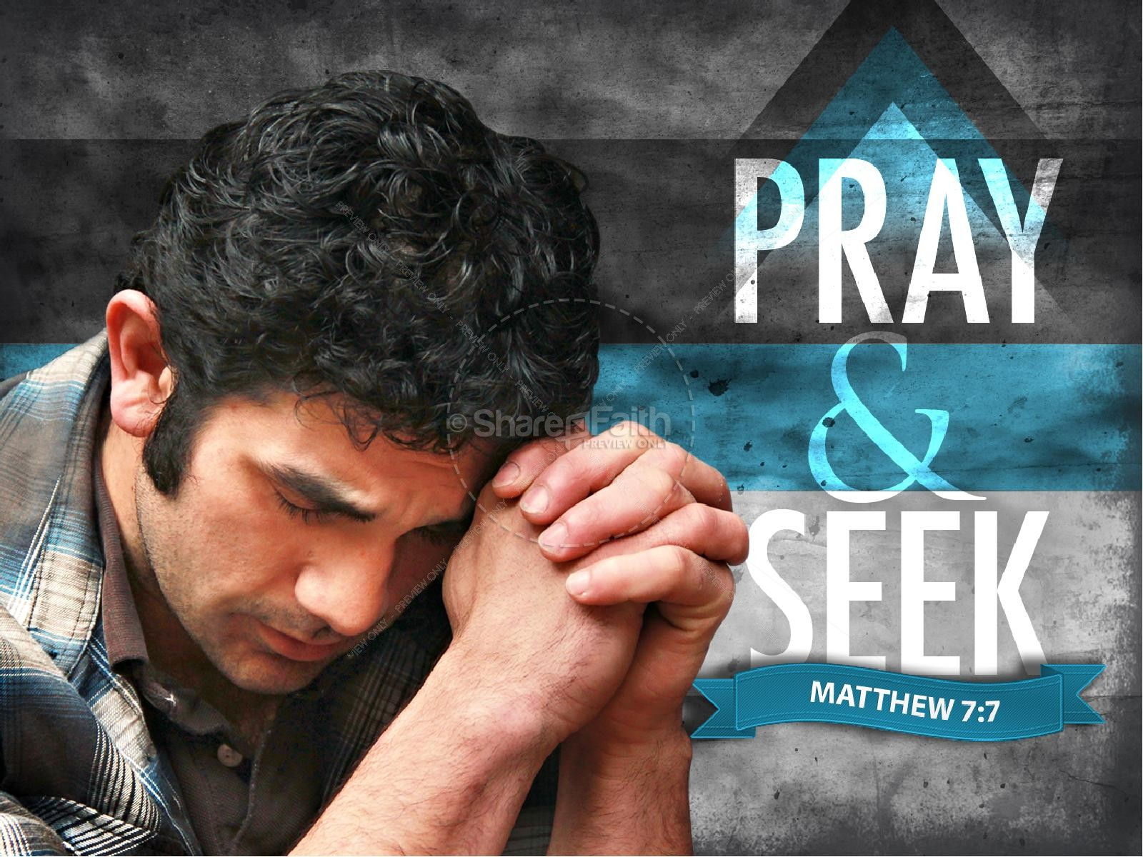 Pray & Seek PowerPoint Template | slide 1