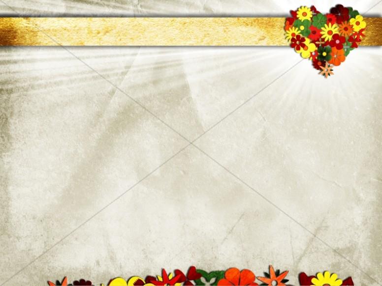 Heart Flower Worship Background
