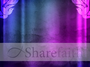 Purple Dove Worship Background