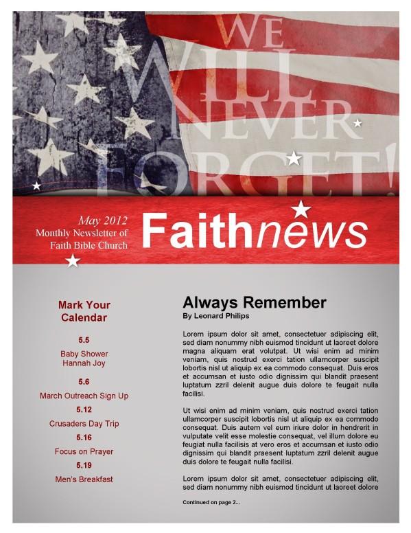 Memorial Day Newsletter Design