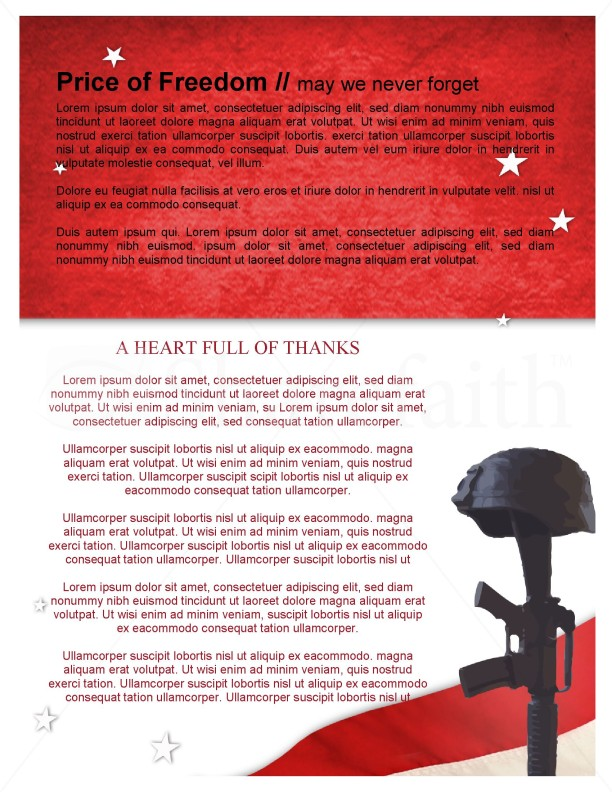 Memorial Day Newsletter Design | page 3