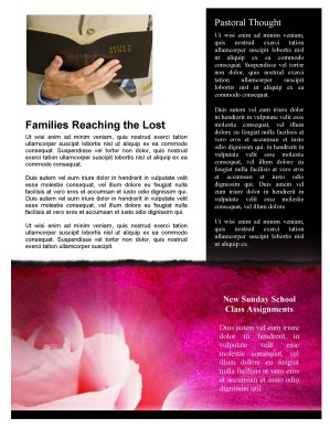 Mother's Day Church Newsletter Template