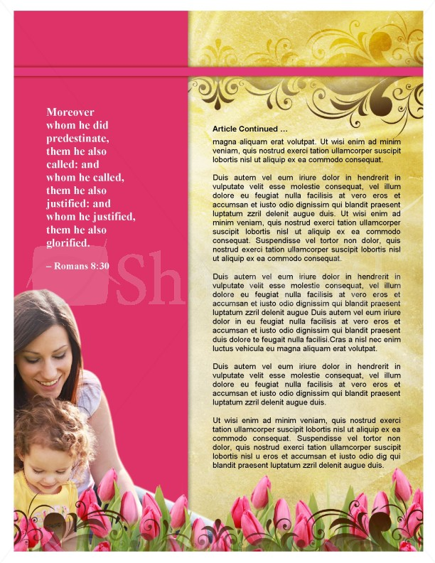Mom's Day Newsletter