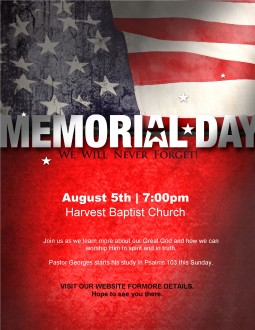 Memorial Day Flyer Design Template