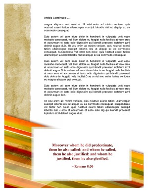 Pentecost Church Newsletter Template