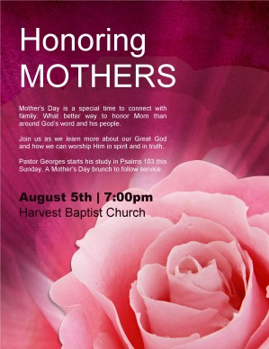 Honoring Mothers Flyer