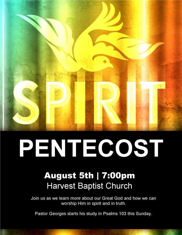Pentecost Dove FlyerFlyer