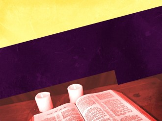 Bible and Candle Background